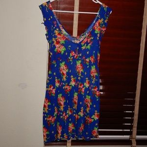 Body Central Sleeveless Floral Dress
